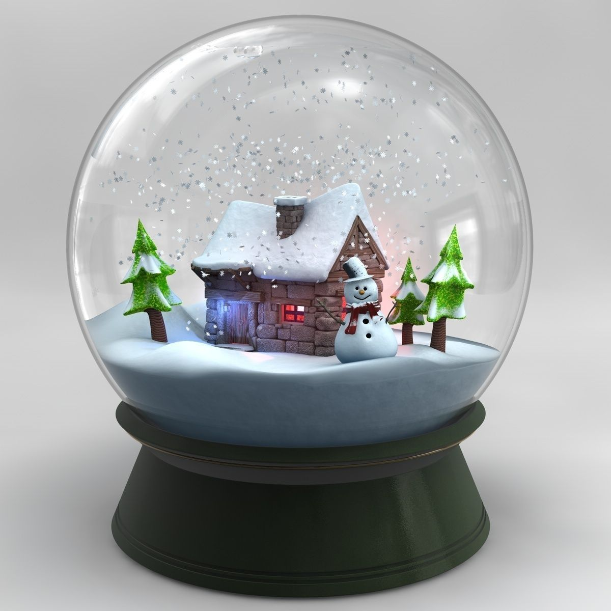 personalized photo snow globe